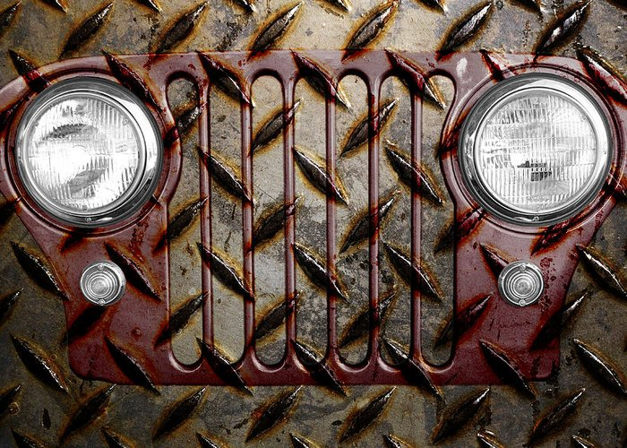 Jeep Greeting Card featuring the photograph Civilian Jeep- Maroon by Luke Moore