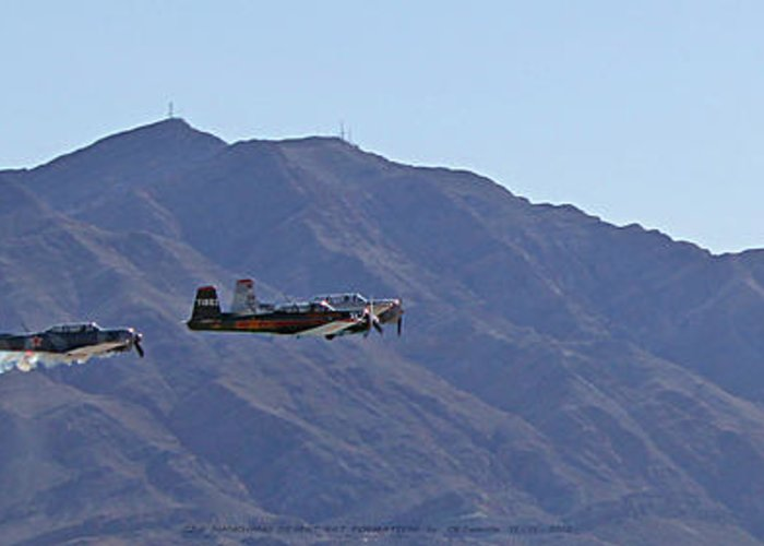 Cj6 Greeting Card featuring the photograph Cj-6 Nanchang Desert Rat Formation by Carl Deaville