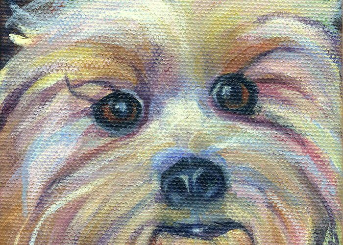 Dog Greeting Card featuring the painting Clancy by Stephanie Allison