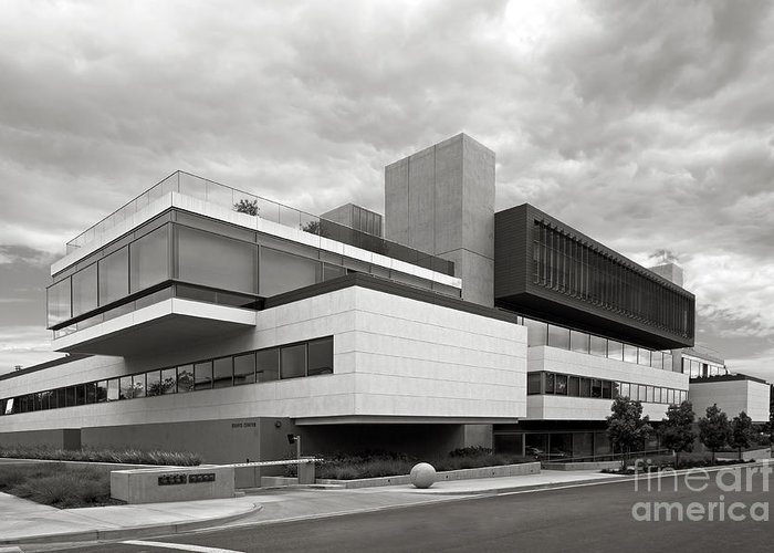 Claremont Mckenna College Greeting Card featuring the photograph Claremont Mc Kenna College Kravis Center by University Icons