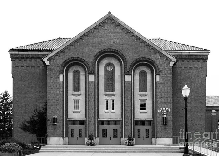 Clark Greeting Card featuring the photograph Clarke University Donaghoe Hall Theater by University Icons