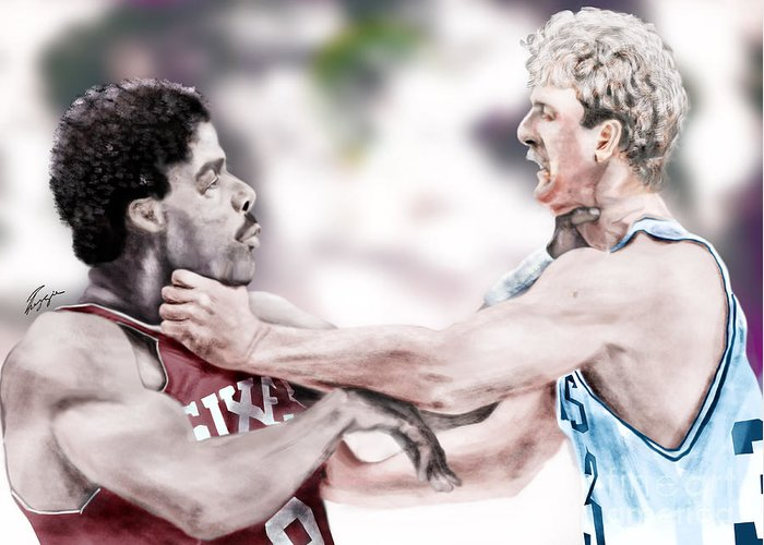 Dr. J Paintings Greeting Cards