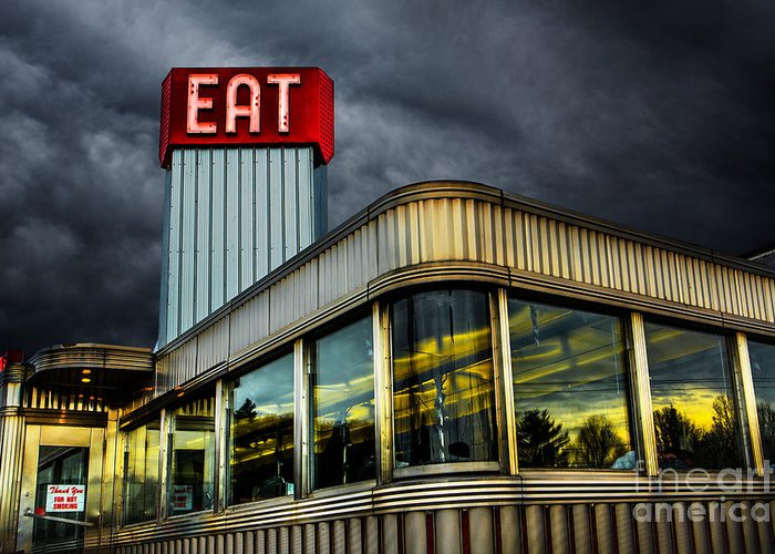Diner Greeting Card featuring the photograph Classic American Diner by Diane Diederich