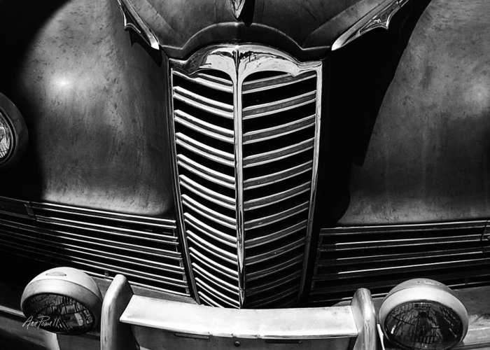 Classic Car Greeting Card featuring the photograph Classic Car Packard Grill by Ann Powell