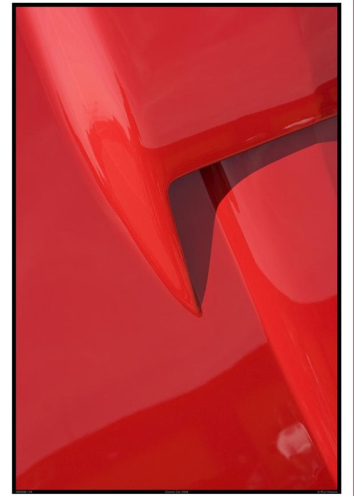 Red Greeting Card featuring the photograph Classic Car Red - 09.20.08_159 by Paul Hasara