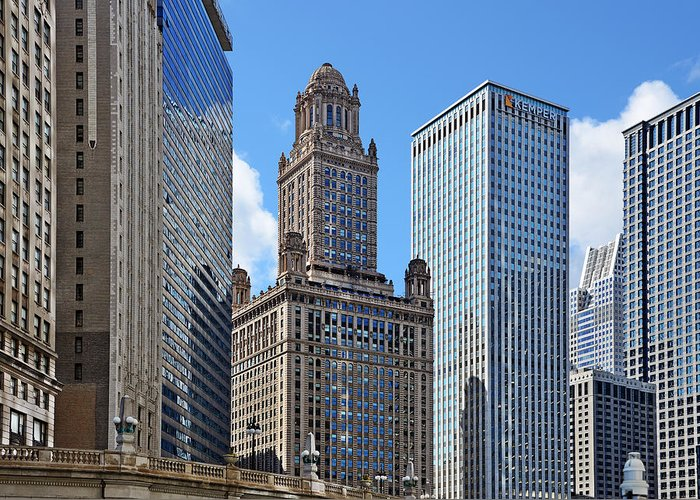 Deco Greeting Card featuring the photograph Classic Chicago - The Jewelers Building by Christine Till
