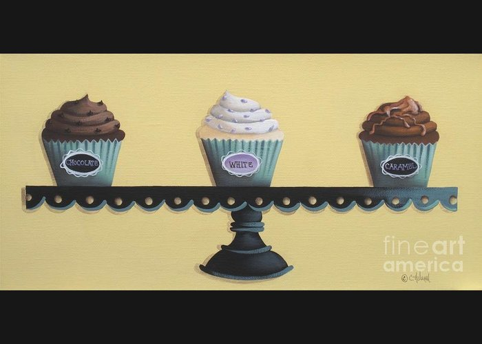 Art Greeting Card featuring the painting Classic Cupcakes by Catherine Holman