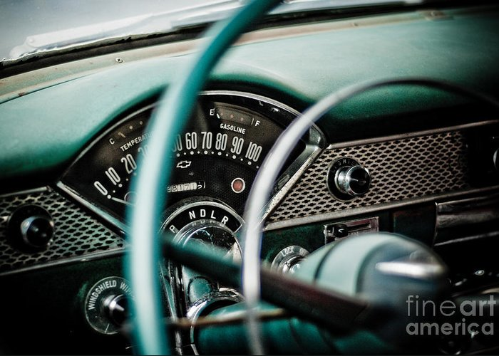 Car Greeting Card featuring the photograph Classic Interior by Jt PhotoDesign