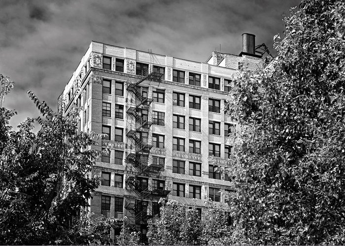 Chicago Greeting Card featuring the photograph Classic Iron Fire Escape Chicago Il by Christine Till