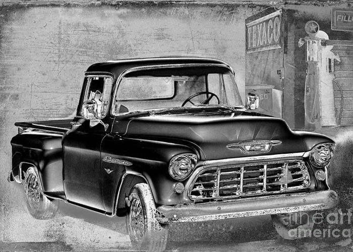 1955 Chevrolet Pickup Greeting Card featuring the photograph Classic Ride by Betty LaRue