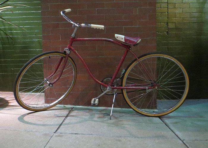 Bike Greeting Card featuring the photograph Classic Schwinn Bike by David Lovins