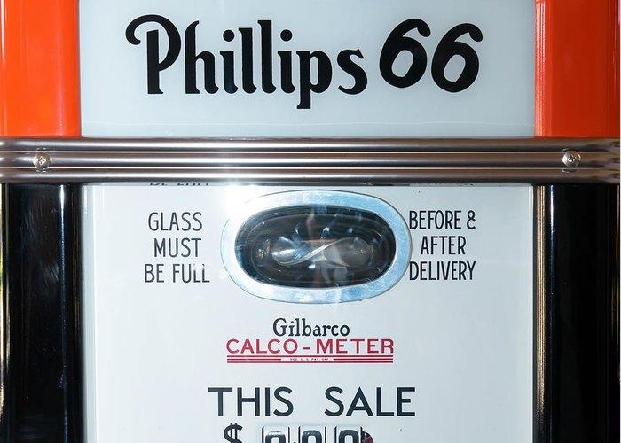 Classic Vintage Gilbarco Phillips 66 Gas Pump Dsc02751 Sq Greeting Card