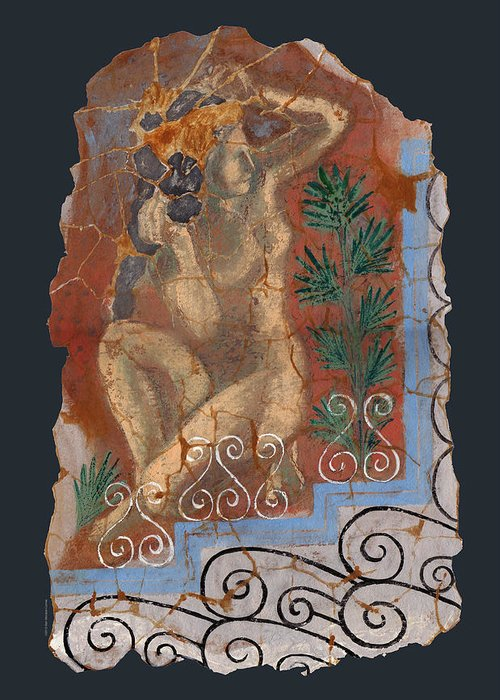 Nude Greeting Card featuring the painting Classical Wall Fragment by Ben Morales-Correa