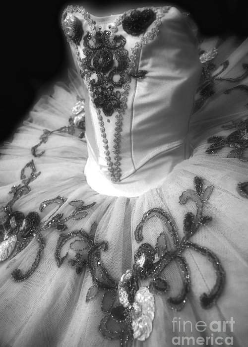 Dance Greeting Card featuring the photograph Classically Costumed X Monochrome by Cassandra Buckley