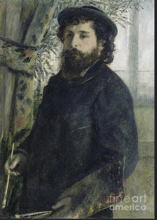 Claude Greeting Card featuring the painting Claude Monet Self-portrait by Claude Monet