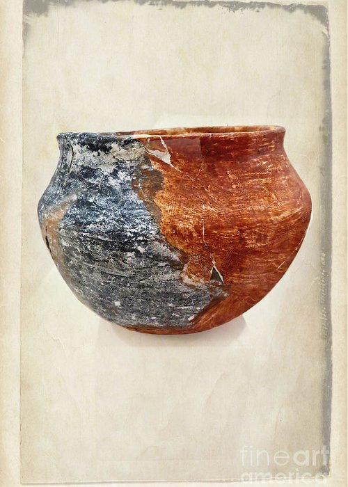 Fine Art Greeting Card featuring the photograph Clay Pottery - Fine Art Photography by Ella Kaye Dickey
