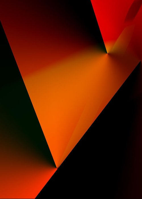 Abstract Greeting Card featuring the digital art Clean Angled Composition by Ian MacDonald