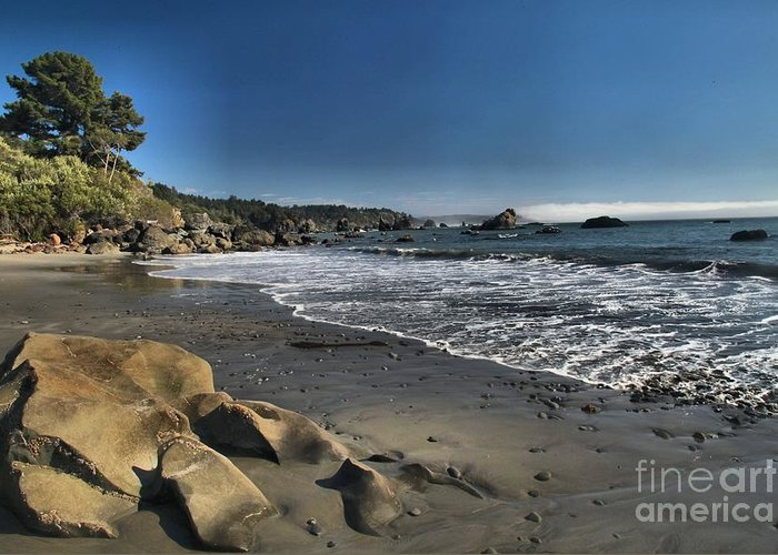 Trinidad Beach Greeting Card featuring the photograph Clear At Trinidad by Adam Jewell