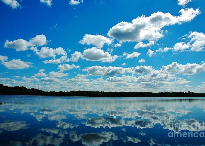 Lake Greeting Card featuring the photograph Clear Blue Waters by Jennie Stewart