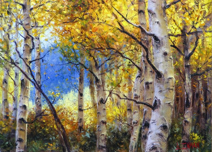 Beautiful Greeting Card featuring the painting Clear Skies by Bill Inman