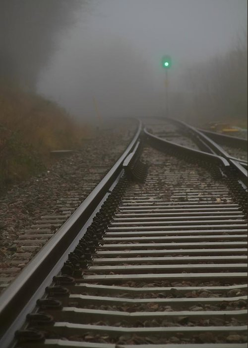 Tracks Greeting Card featuring the photograph Clear Track by Odd Jeppesen