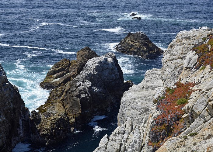 Point Lobos Greeting Card featuring the photograph Cliffs And Coastline At California's Point Lobos State Natural Reserve by Bruce Gourley