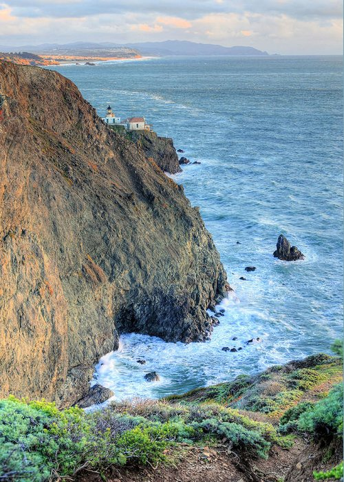 Bonita Point Greeting Card featuring the photograph Cliffs by JC Findley