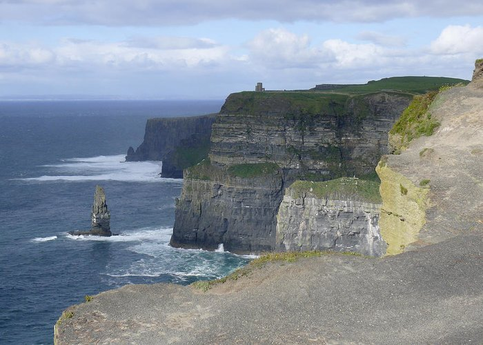 Travel Greeting Card featuring the photograph Cliffs Of Moher 4 by Mike McGlothlen