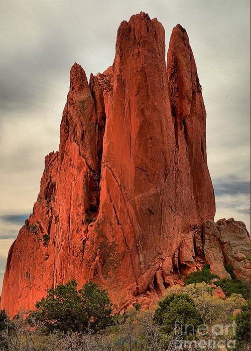 Garden Of The Gods Greeting Card featuring the photograph Climbers Challenge by Adam Jewell
