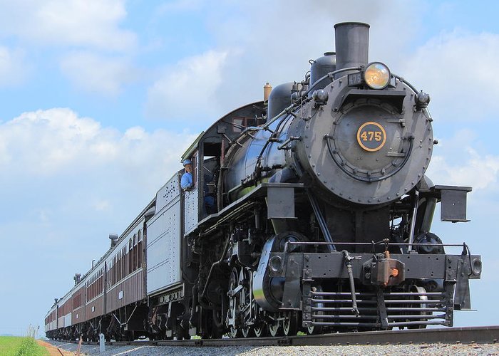 Steam Greeting Card featuring the photograph Climbing The Grade by Stephen Hobbs
