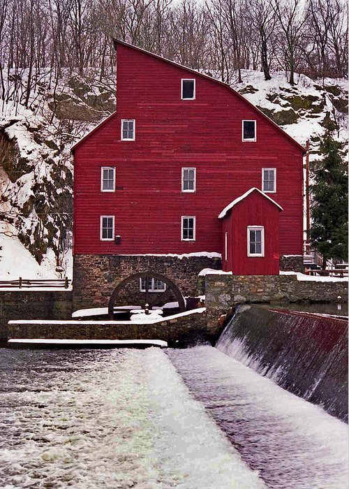 Mill Greeting Card featuring the photograph Clinton Mill by Skip Willits