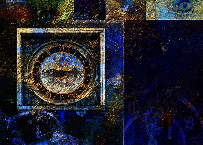 Clocks Greeting Card featuring the photograph Clocks by Randi Grace Nilsberg