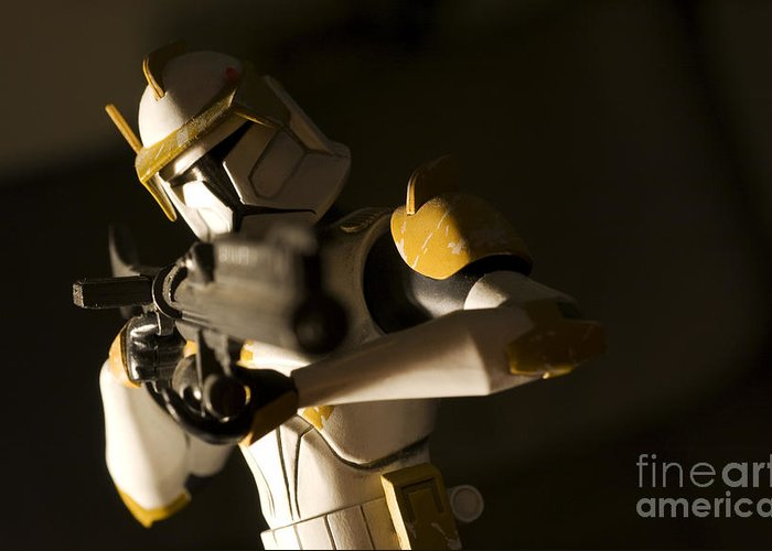 Star Wars Greeting Card featuring the photograph Clone Trooper 1 by Micah May
