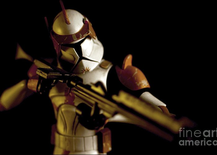 Star Wars Greeting Card featuring the photograph Clone Trooper 2 by Micah May