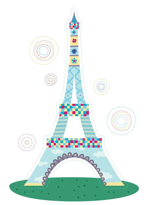 Event Greeting Card featuring the digital art Close-up Of Tower by Eastnine Inc.