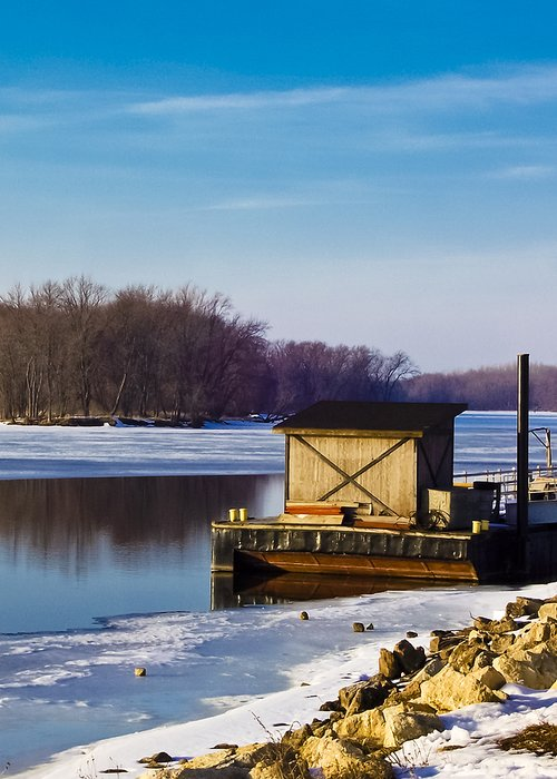 Mississippi River Greeting Card featuring the photograph Closed For The Season by Christi Kraft