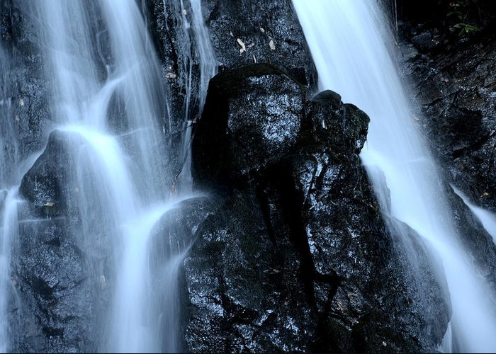Laurel Greeting Card featuring the photograph Closeup Waterfall by Charles Bacon Jr