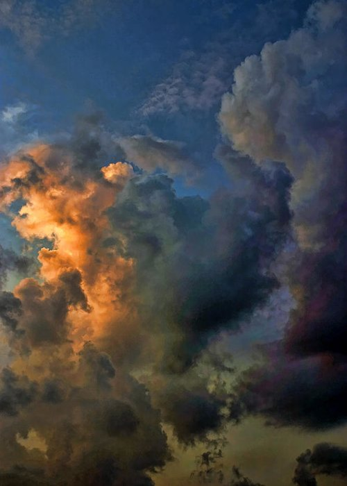 Sunset Greeting Card featuring the photograph Cloud 20120130-34 2 by Carolyn Fletcher