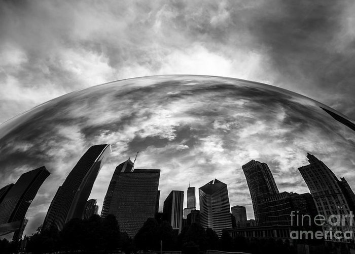 Bean Greeting Card featuring the photograph Cloud Gate Chicago Bean by Paul Velgos