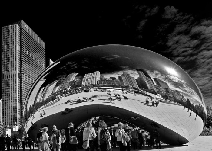 Cloud Greeting Card featuring the photograph Cloud Gate Chicago - The Bean by Christine Till