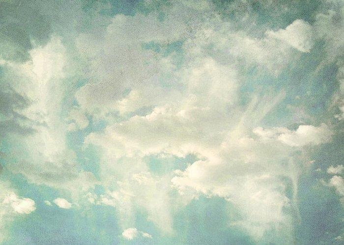 Brett Greeting Card featuring the digital art Cloud Series 1 Of 6 by Brett Pfister