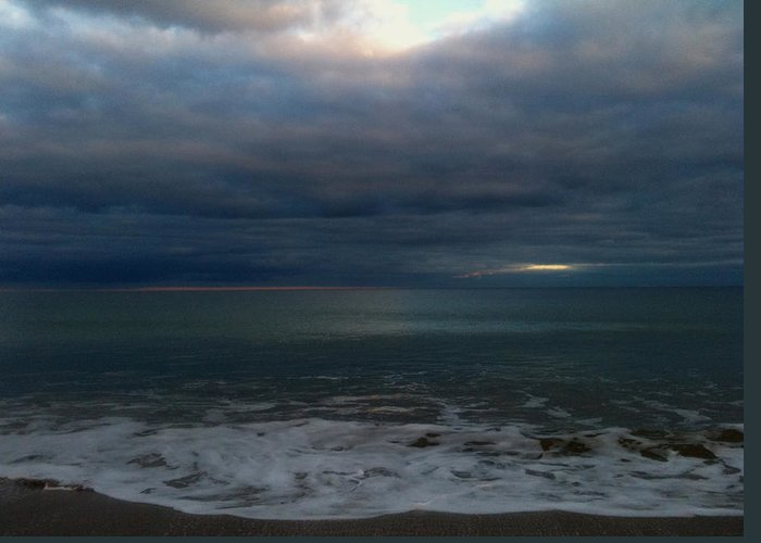 Clouds Over Sea Greeting Card featuring the photograph Clouded Window by Amanda Holmes Tzafrir