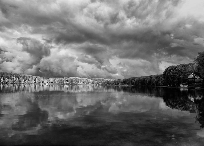 Beauty Greeting Card featuring the photograph Clouds Over Crystal Lake by Kevin Kludy