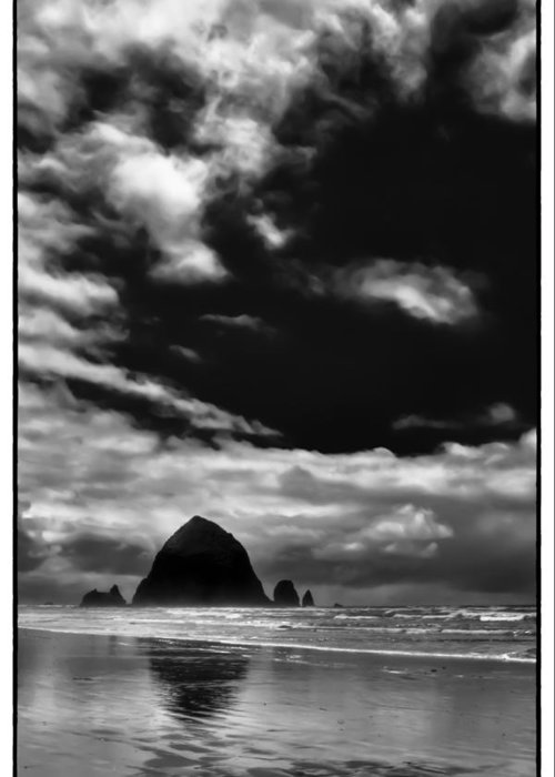 Cannon Beach Greeting Card featuring the photograph Clouds Over Haystack Rock On Cannon Beach by David Patterson