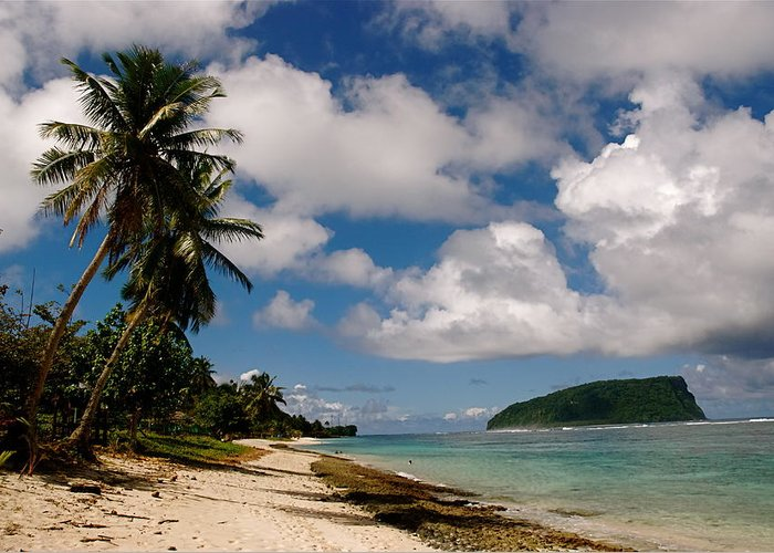 Samoa Greeting Card featuring the photograph Clouds Over Island by Marc Levine