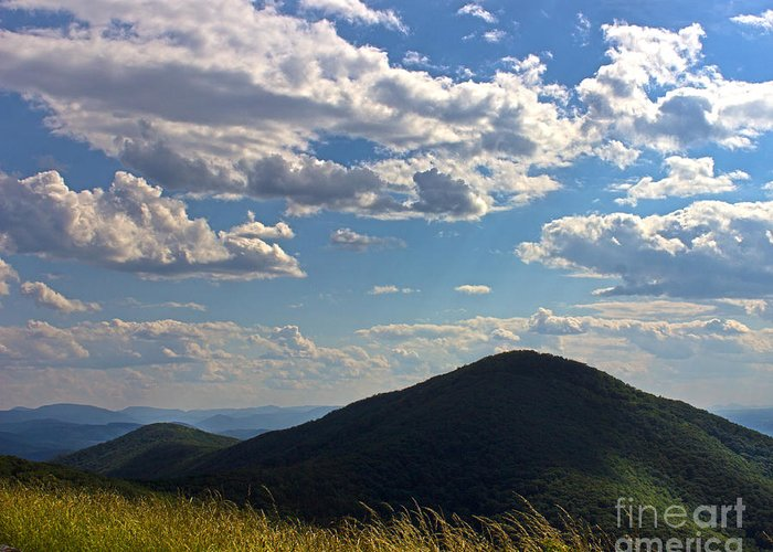 Nature Greeting Card featuring the photograph Clouds Over The Mountain by Tom Gari Gallery-Three-Photography