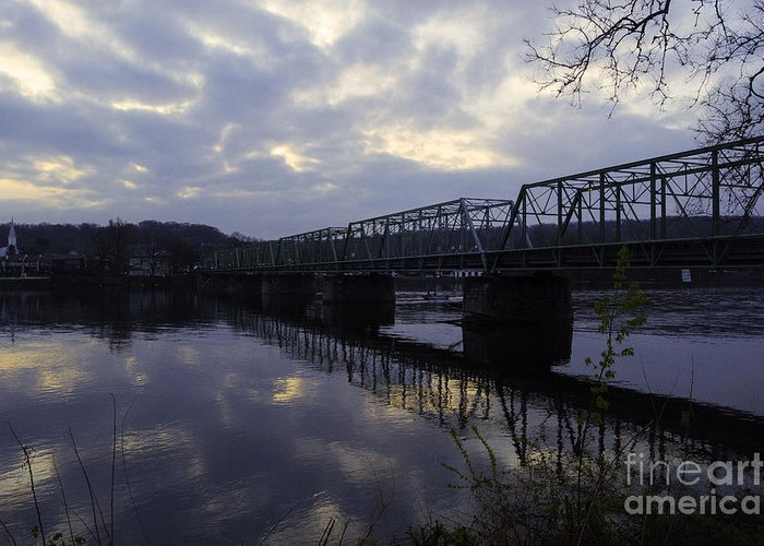 New Hope Greeting Card featuring the photograph Cloudy Sunrise by Tim Kravel