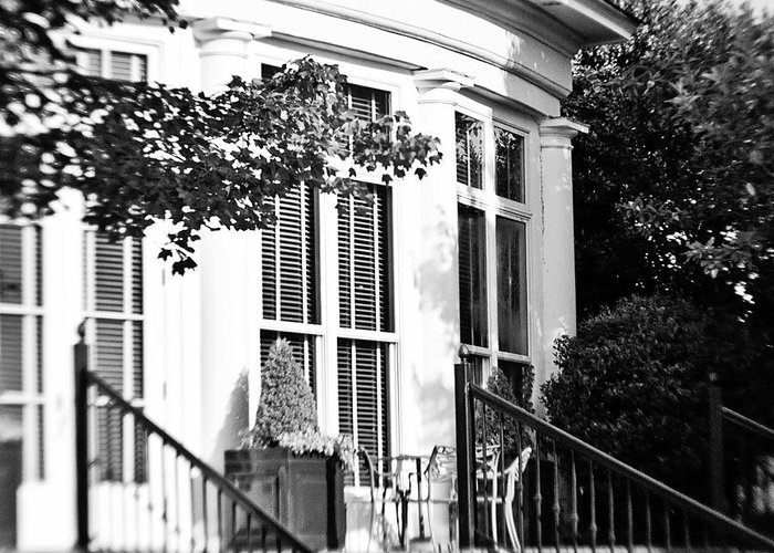 Lensbaby Greeting Card featuring the photograph Club House by Scott Pellegrin