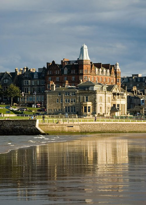 St. Andrews Greeting Card featuring the photograph Club House St Andrews by Jeremy Voisey