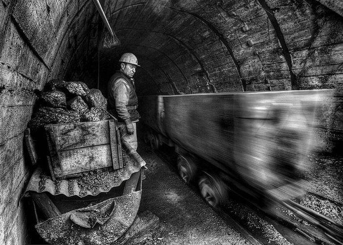 Coal Greeting Card featuring the photograph Coal Mine by Emine Basa